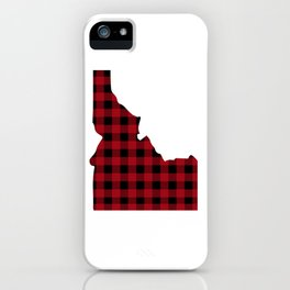 Idaho - Buffalo Plaid iPhone Case