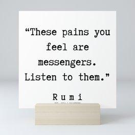 92  | Rumi Quotes | 190221 Mini Art Print