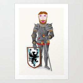 The Good Knight Art Print