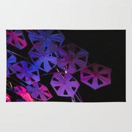 purple paper ponder Rug