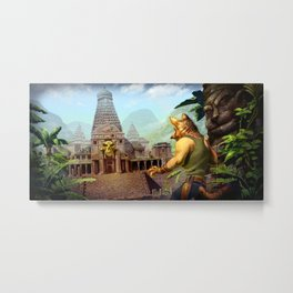 Monkey temple Metal Print