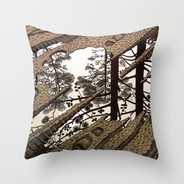 Esher - Puddle Throw Pillow