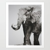 Marching Elephant Art Print