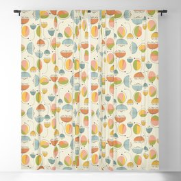 Floral geometry Blackout Curtain