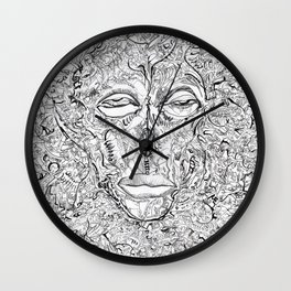 Brain Drain Wall Clock