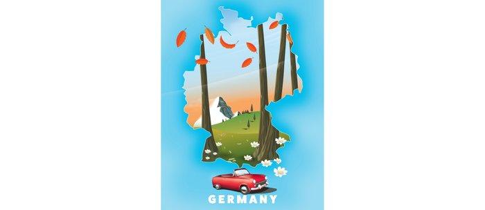 Germany Travel poster Coffee Mug