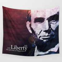 lincoln Wall Tapestries featuring Abraham Lincoln by politics