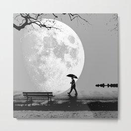 Moonlight Park Metal Print