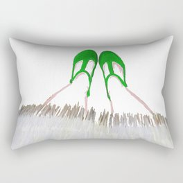 Small Green Shoes Rectangular Pillow
