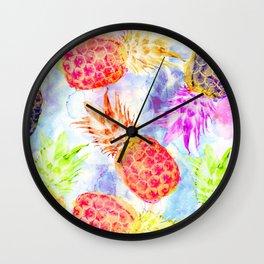 Pineapple's Rhapsody Wall Clock