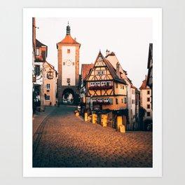 Rothenburg Ob Der Tauber Bavaria Germany Art Print
