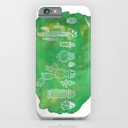 Cacti Line Up iPhone Case