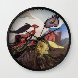 GOOD MORNING at the FARM Wall Clock