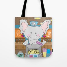 Elsa in the Coffee Shop  - Fun, sweet, creative and colorful, original,digital children illustration Tote Bag