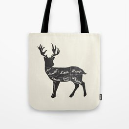 Venison Butcher Diagram-Deer Tote Bag