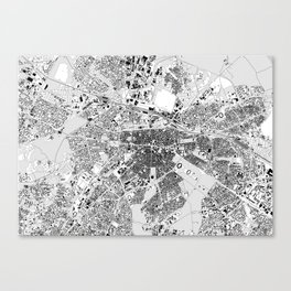 sofia map Canvas Print