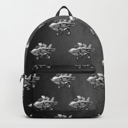 F35 Fighter Jet Airplane - F-35B Lighting II Joint Strike Fighter Cartoon Backpack