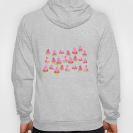 Watermelons - black background Hoody
