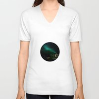 northern lights V-neck T-shirts featuring Northern Lights in Tromso by Louise