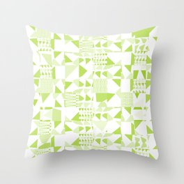 Triangles Patchwork #3 Throw Pillow