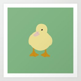 hungry baby duck Art Print