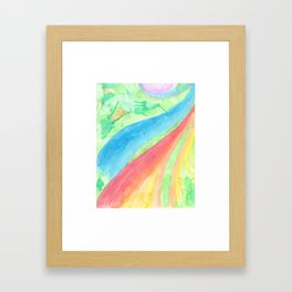 colors of the sea Framed Art Print
