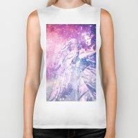 celestial Biker Tanks featuring Celestial Angel by 2sweet4words Designs