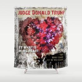 Judge Donald Trump Shower Curtain