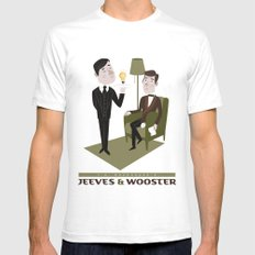 Jeeves & Wooster White SMALL Mens Fitted Tee