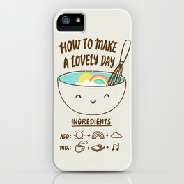 How to make a lovely day iPhone Case