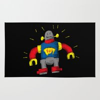 robot Area & Throw Rugs featuring ROBOT by Juan Pivaral