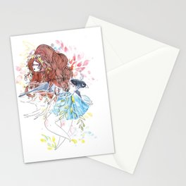 The bohemian girl and the swallow Stationery Cards