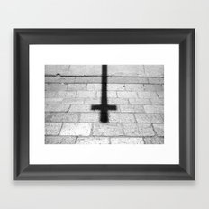 Religion is a 'No Loading at Any Time' road sign. Framed Art Print