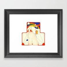 Deco Rainbow Framed Art Print