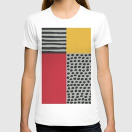 Earth Tone, Red Orange Pattern, Scandinavian Design T-shirt