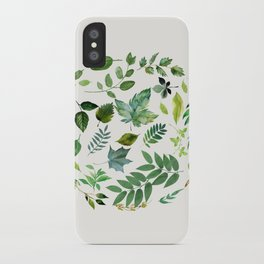 Circle of Leaves iPhone Case