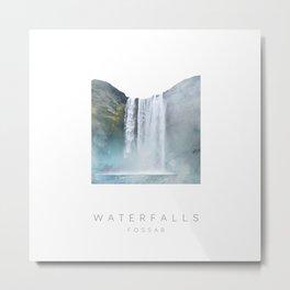 WATERFALL | FOSS | ICELAND Metal Print