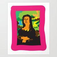 mona lisa Art Prints featuring Mona Lisa by John Sailor