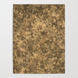 Hybrid Desert Brown Camo Pattern Poster