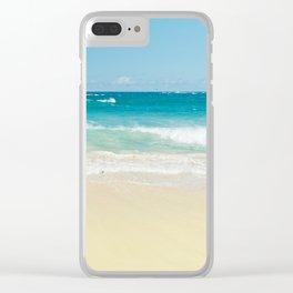 Beach Love Clear iPhone Case