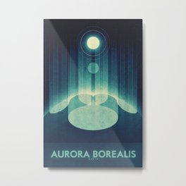 Earth - Aurora Borealis Metal Print