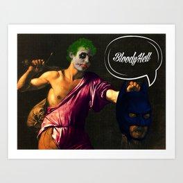 DEFEAT THE HERO Art Print