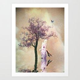Blossom angel Art Print