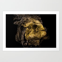Caving in or out? Art Print