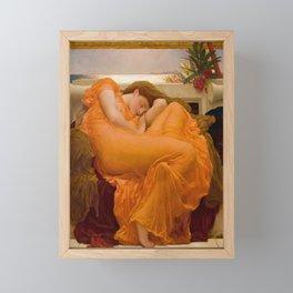 Frederic Leighton's Flaming June Framed Mini Art Print