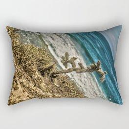 The Lonely Golden Cactus. Rectangular Pillow