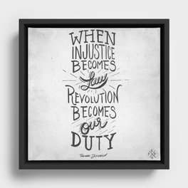 Revolution Becomes Our Duty Framed Canvas