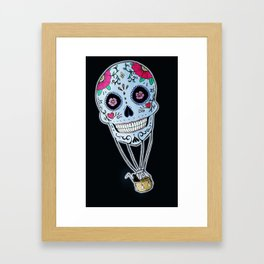 Mexican Skull Hot Air Ballon Framed Art Print