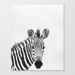 Zebra, Animal, ZOO, Safari, Nursery, Minimal, Modern, Wall art Canvas Print