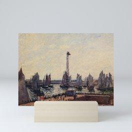Camille Pissarro - The East Breakwater, Return of The Regatta, Le Havre Mini Art Print